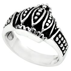 925 sterling silver indonesian bali style solid ring jewelry size 7.5 a48113