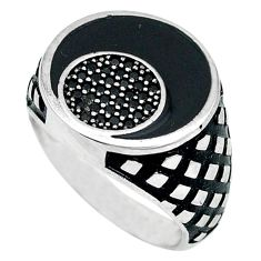 Natural black topaz 925 sterling silver mens ring jewelry size 8.5 a48772