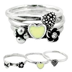 Clearance Sale-Indonesian bali style solid 925 silver stackable 3 band ring size 9 a52112