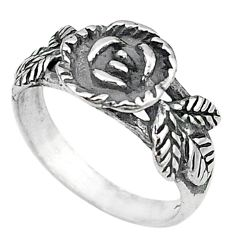 Clearance Sale-Indonesian bali style solid 925 silver flower ring jewelry size 7 a53002