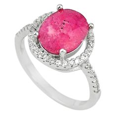 Clearance Sale-Natural red ruby topaz 925 sterling silver ring jewelry size 6.5 a57130