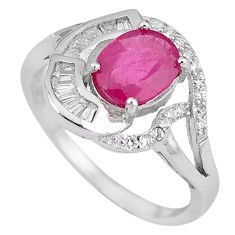 Clearance Sale-Natural red ruby topaz 925 sterling silver ring jewelry size 8.5 a57643