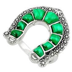 Clearance Sale-Southwestern natural malachite (pilot's stone) 925 silver ring size 7.5 a58432