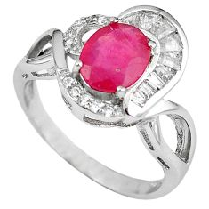 925 sterling silver natural red ruby topaz round ring jewelry size 7 a59704