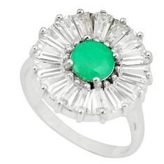 Natural green emerald topaz 925 sterling silver ring jewelry size 8 a75446