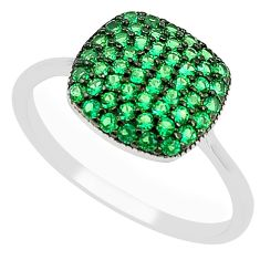 Green emerald quartz 925 sterling silver ring jewelry size 7.5 a78177