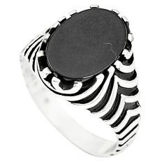 Natural black onyx 925 sterling silver mens ring jewelry size 9 a78721