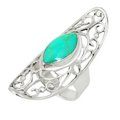 Fine green turquoise 925 sterling silver ring jewelry size 5.5 a80928