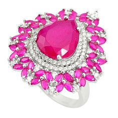 Red ruby quartz topaz 925 sterling silver ring jewelry size 6 a81241