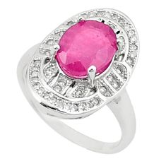 925 sterling silver natural red ruby topaz ring jewelry size 6.5 a81860
