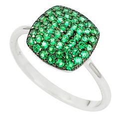 Green emerald quartz 925 sterling silver ring jewelry size 5.5 a82746