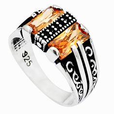 Champagne topaz quartz topaz 925 silver mens ring jewelry size 11 a82982