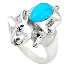 Fine blue turquoise 925 sterling silver ring jewelry size 6.5 a83225