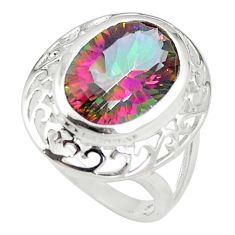 925 sterling silver multi color rainbow topaz ring jewelry size 7 a85000