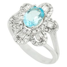 4.38cts natural blue topaz topaz 925 sterling silver ring jewelry size 9 a85795