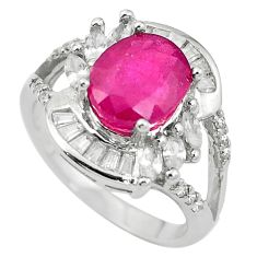 Natural red ruby topaz 925 sterling silver ring jewelry size 6.5 a85811