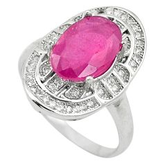 Natural red ruby topaz 925 sterling silver ring jewelry size 6.5 a85838