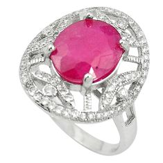925 sterling silver natural red ruby topaz ring jewelry size 8 a85855