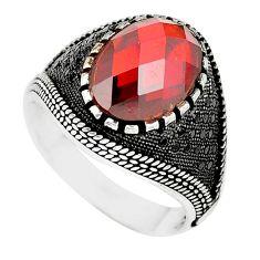 Red garnet quartz topaz 925 sterling silver mens ring size 11 a87058