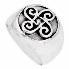6.26gms indonesian bali style solid 925 plain silver ring size 6.5 a92485