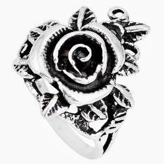 925 silver 8.47gms indonesian bali style solid flower ring size 7.5 a92520
