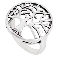 3.26gms indonesian bali style solid 925 silver tree of life ring size 5 a92637