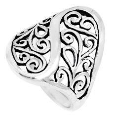 5.24gms indonesian bali style solid 925 plain silver ring size 6 a92672