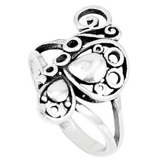 3.48gms indonesian bali style solid 925 silver butterfly ring size 7 a93416