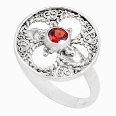 0.45cts natural red garnet 925 sterling silver ring jewelry size 8 a94595