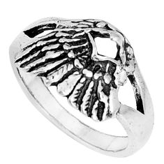 5.26gms indonesian bali style solid 925 silver eagle face ring size 8.5 a94755