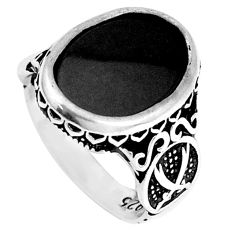 8.14cts natural black onyx 925 sterling silver mens ring jewelry size 9.5 a95427