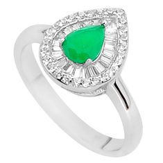 3.50cts green emerald (lab) topaz 925 sterling silver ring jewelry size 9 a96101