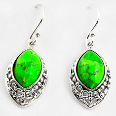 7.66cts southwestern green copper turquoise 925 sterling silver earrings c5661
