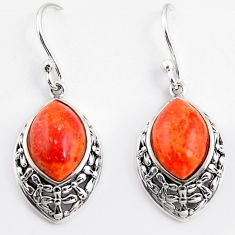 8.12cts southwestern red copper turquoise 925 sterling silver earrings c5681