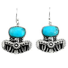 925 silver 6.15cts southwestern blue arizona mohave turquoise earrings c7271
