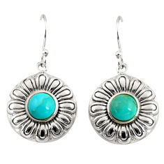 925 silver 2.84cts southwestern blue arizona mohave turquoise earrings c7274