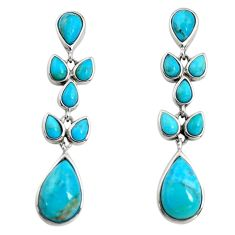 11.25cts southwestern blue arizona mohave turquoise 925 silver earrings c7280