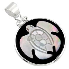 10.14cts natural pink cameo on shell 925 sterling silver turtle pendant c6218