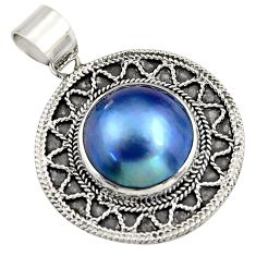 14.90cts natural titanium pearl 925 sterling silver pendant jewelry c6256
