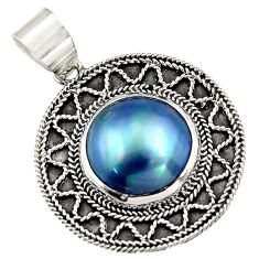 14.40cts natural titanium pearl 925 sterling silver pendant jewelry c6259