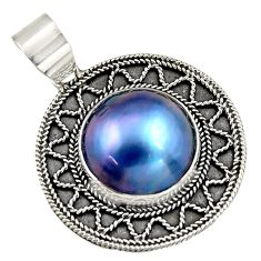 925 sterling silver 14.90cts natural titanium pearl pendant jewelry c6260
