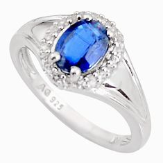 2.71cts natural blue kyanite topaz 925 sterling silver ring jewelry size 9 c5471