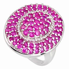 4.70cts natural red ruby 925 sterling silver ring jewelry size 7 c5475