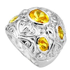 7.81cts natural lemon topaz 925 sterling silver ring jewelry size 7 c5515