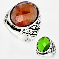 17.16cts green alexandrite (lab) 925 silver solitaire ring jewelry size 11 c5963