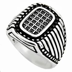 1.60cts natural black onyx 925 sterling silver mens ring jewelry size 10.5 c6063