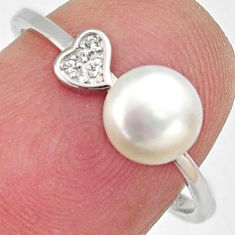 1.77cts natural white pearl topaz 925 sterling silver ring jewelry size 7 c6402
