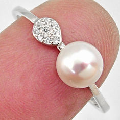 1.62cts natural white pearl topaz 925 sterling silver ring jewelry size 7 c6405