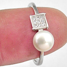 1.71cts natural white pearl topaz 925 sterling silver ring jewelry size 7 c6418