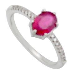 925 sterling silver 2.37cts natural red ruby topaz ring jewelry size 6 c6420